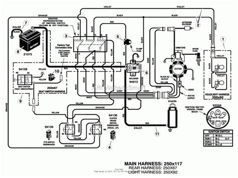 mtd lawn mower electrical diagram wiring forums