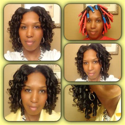 ethiopan hire style suruba braid curl hair with flexi rods flexirods on long hair