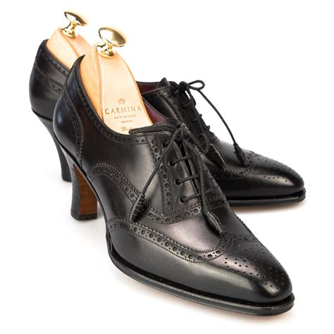 heel oxford shoes high heel oxford shoes in black leather
