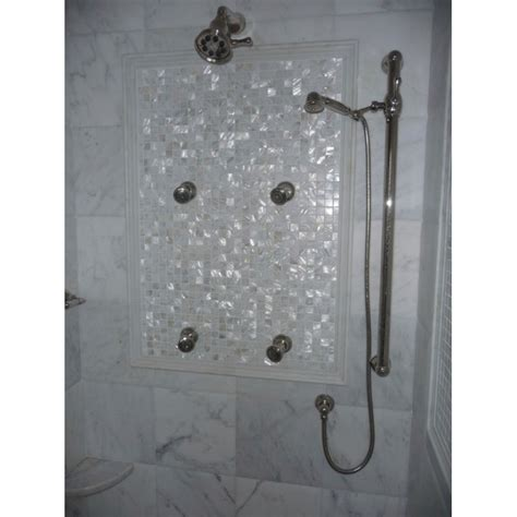 pearl bathroom tiles mother of pearl tile mosaic square 1 inch freshwater white