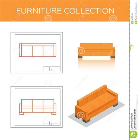 sofa isometric view isometric icon of a sofa stock illustration image 58905143