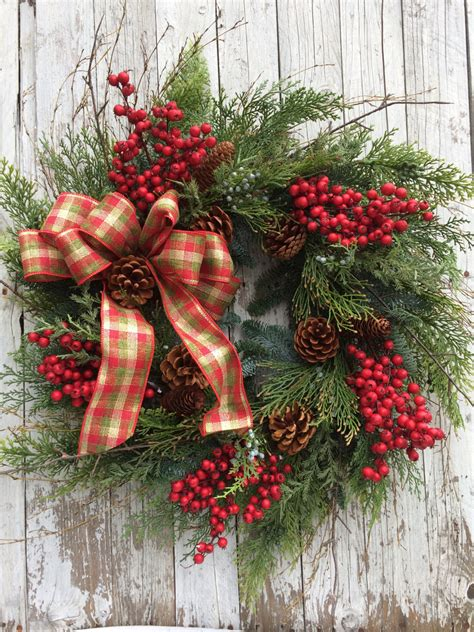 christmas berry wreath large christmas berry wreath for door