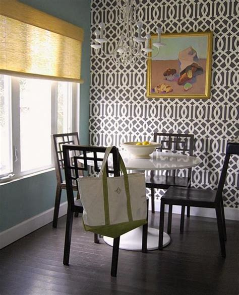 dining room design  decorating  modern wallpaper