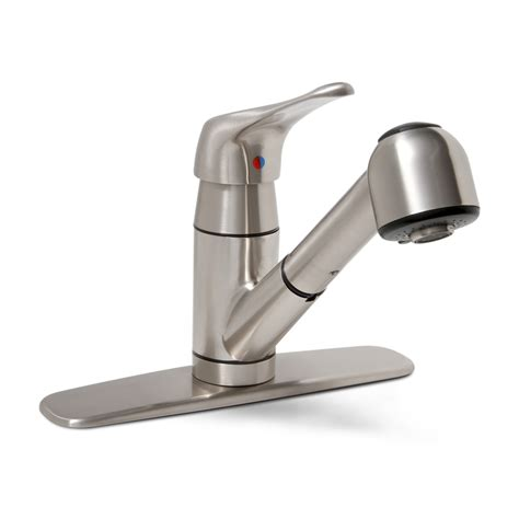 Shop Premier Faucet Sonoma Brushed Nickel 1 Handle Pull Out Kitchen Faucet at Lowes.com