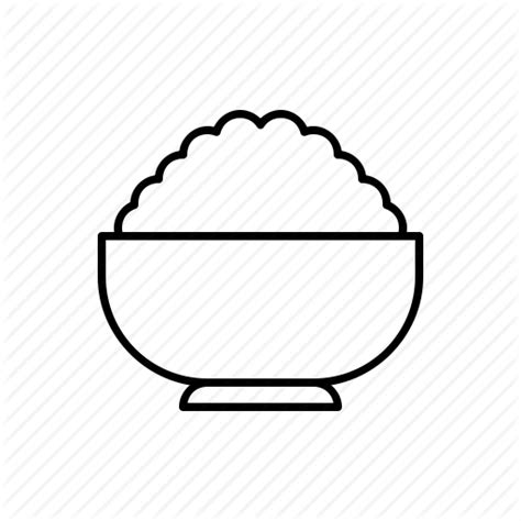 Rice Outline by Bowl Food Rice Icon Icon Search Engine