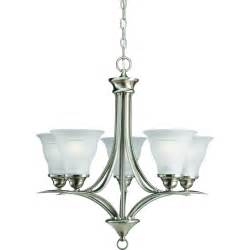 chandelier home depot progress lighting collection brushed nickel 5
