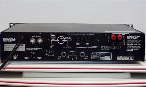 Power Lifier Crown Macro Tech crown macro tech 2400 image 147269 audiofanzine