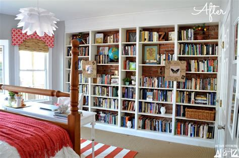 Ikea Billy Built in Bookshelves {bookcase styling}   Home Stories A to Z