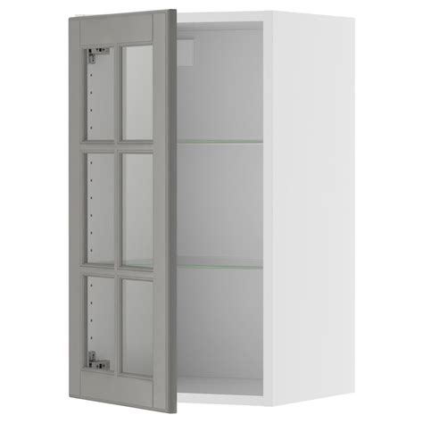 Ikea Laundry Room Wall Cabinets Akurum Wall Cabinet With Glass Door Birch Effect Lidi Gray 15x39 Quot Ikea Because