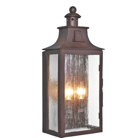 Iron Outdoor Lighting Traditional Flush Fitting Wrought Iron Garden Wall Lantern