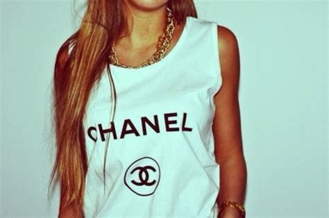 Coco Channel You Tshirt tank top shirt chanel t shirt yolo mainstream wanted chanel t shirt swag swag