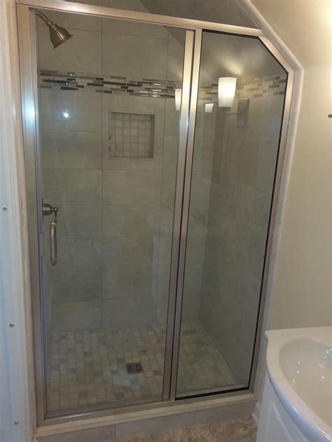 Custom Cut Shower Glass by Semi Frameless Shower Enclosures Custom Cut Glass