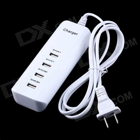 usb power adaptor 4 port 20watt 4 port 20w 4000ma usb power adapter charger white