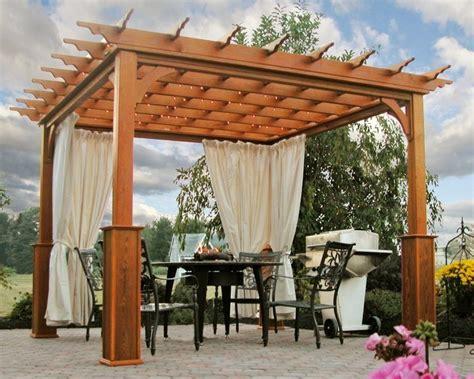 veranda vorhänge die herrliche pergola aus holz in 93 fotos archzine net