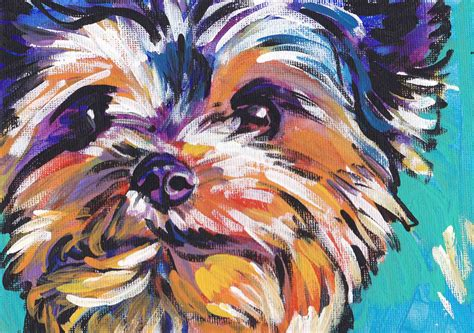 yorkie description terrier yorkie print pop bright colors