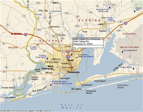 map pensacola florida area washington hs map 4