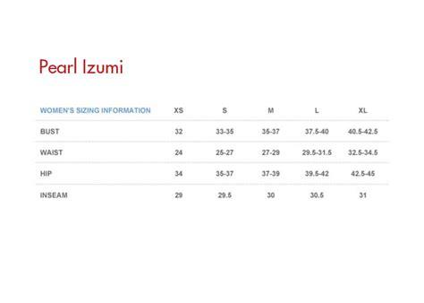 shoe size chart pearl izumi pearl izumi 2012 women s symphony cycling jersey