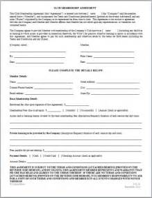 martial arts contract template 10 best images of membership agreement template sle