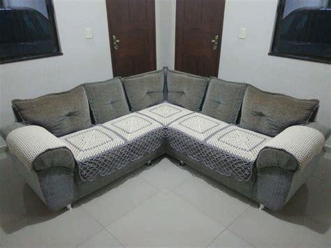 capa de sofa de canto em croche capa de sof 225 de canto em croch 234 no elo7 elienes de