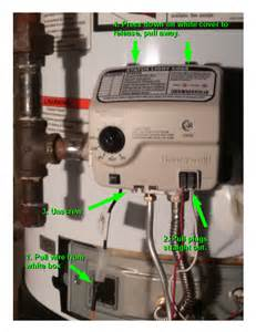 resetting the honeywell gas valve on a water