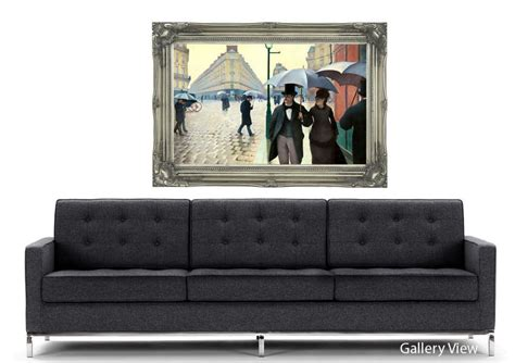 a day wall mural gustave caillebotte on a rainy day classic mural printed wall mural