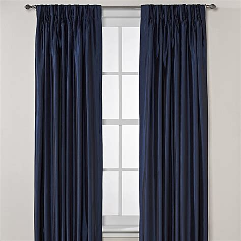 Argentina pinch pleat back tab interlined window curtain panels bed bath amp beyond