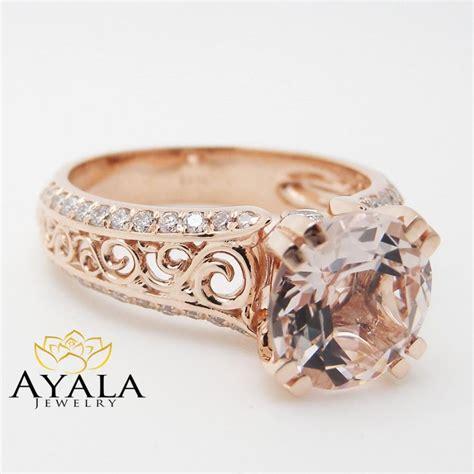 deco gold engagement rings unique gold engagement ring 14k gold morganite engagement ring deco engagement