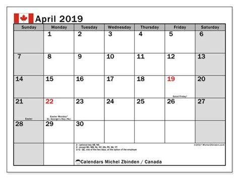 april  calendar  holidays canada calendar march