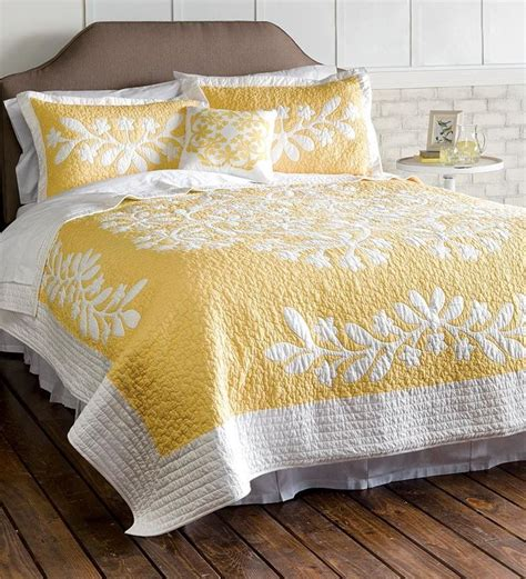 hawaiian pattern comforters kayla hand guided yellow and white king quilt set for my