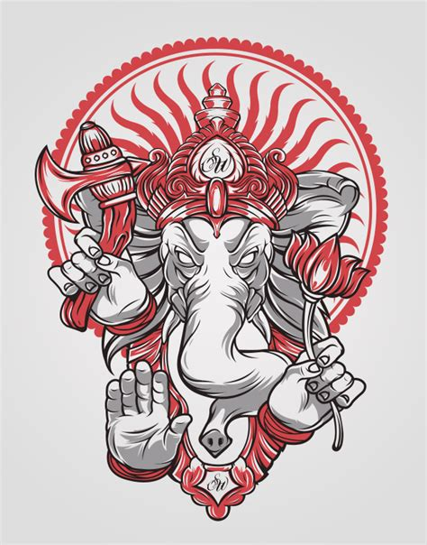 ganesha tattoo hip ganesh by schorer on deviantart