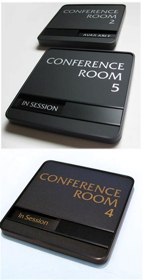 Engraved Desk Sign Executive Conference Room Signs Availability In Out