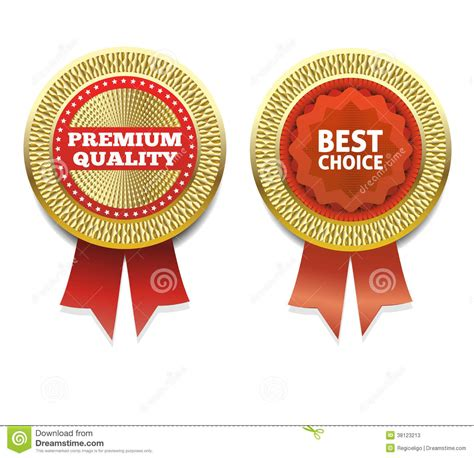 premium quality and best choice label stock vector