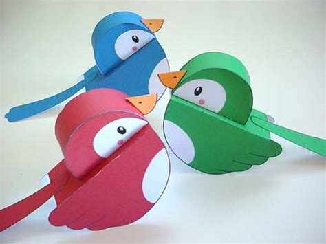 Make Bird With Paper - how to make 3d birds with cds how to make a three