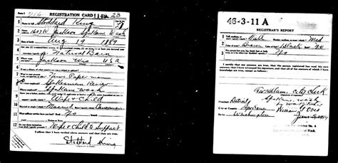 Selective Service Greetings Letter File King Stoddard Ww1 Draft Card Jpg