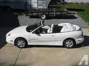 1999 Pontiac Sunfire Convertible 1999 Pontiac Sunfire Gt Convertible 2 Door 2 4l For Sale