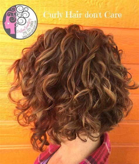 hi low hairstyles www haircutcolor com naturally curly bob with balayage