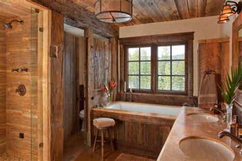 le rustikal badezimmer einrichten im rustikalen landhausstil