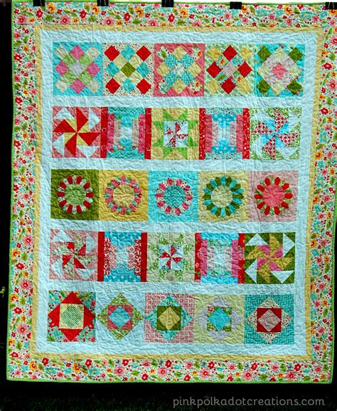 Pink Polka Dot Quilt by Block Of The Month Quilt Pink Polka Dot Creations