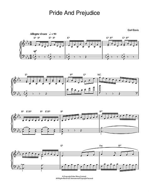 amazon com pride and prejudice main theme from pride pride and prejudice sheet music by carl davis piano 32295