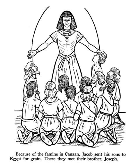 coloring pages joseph and pharaoh bible coloring page and color by number joseph helped