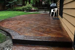 How Much Is A Stamped Concrete Patio Is Stamped Concrete A Do It Yourself Project Spazio La