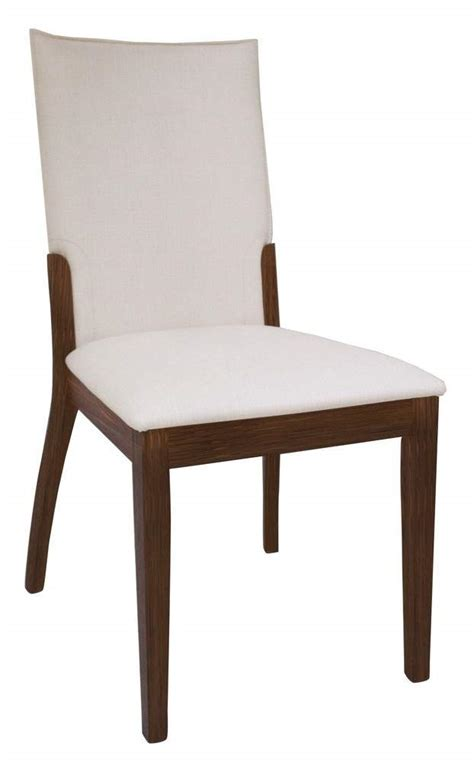 contemporary chairs for dining room cream leather upholstered dark walnut hardwood chairs san
