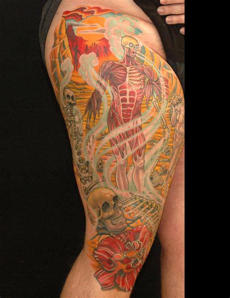 christian tattoo artists virginia custom leg sleeve by russ abbott tattoos
