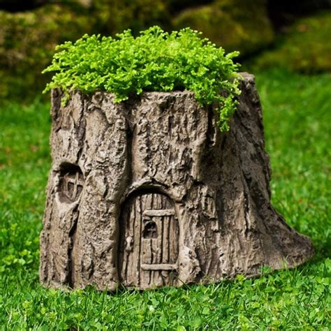 Planter S House tree stump planter ideas how to instructions