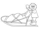 iditarod coloring pages iditarod activities for kids