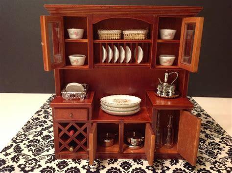 miniature dollhouse kitchen furniture dollhouse miniature furniture mahogany wood wine shelf cabinet 1 12 no food ebay