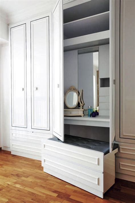 wardrobe cum dressing table ideal for bedrooms 10 ideas for a space saving desk home decor singapore