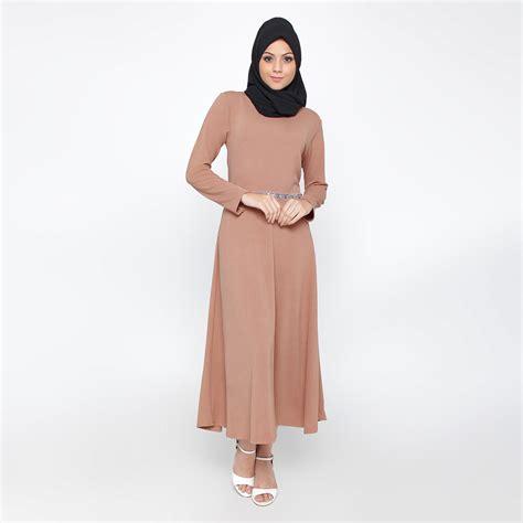 Baju Gamis Wanita Elzatta jfashion premium gamis polos variasi renda tangan panjang diana elevenia