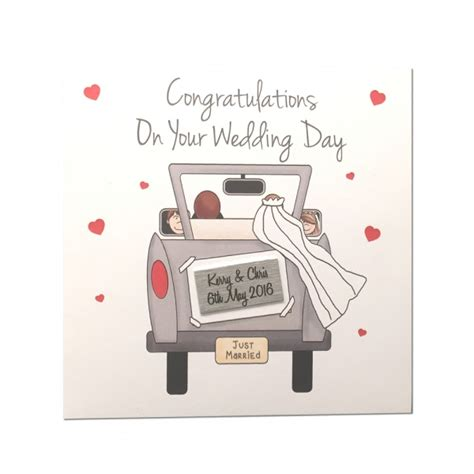 Wedding Card Uk by Personalised Wedding Card Personalised Congratulations