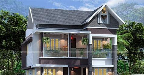bedroom  sq ft modern sloped roof home kerala home design  floor plans